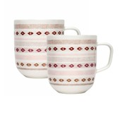 Sarjaton Mug, Red, Set of 2