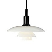 PH 3/2 Pendant light, Glass/black chrome plated