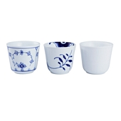 Blue Fluted Mega mug, 3 pcs., White