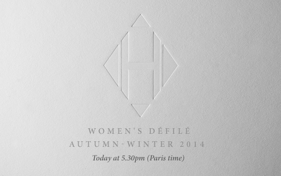 Women's Défilé  Autumn-Winter 2014 - Today at 5.30pm (Paris Time)