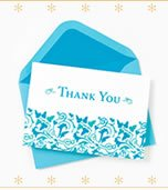 Foil & Flocked Pattern Thank You Notes