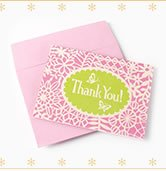 Flower & Lace Embellished Thank You Notes
