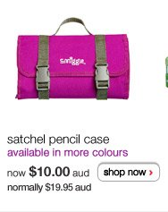 satchel pencil case - available in more colours - now $10.00aud normally $19.95aud - shop now >