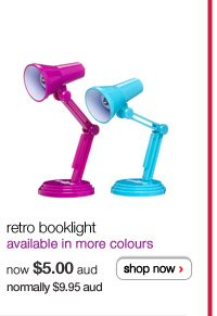 retro booklight - available in more colours - now $5.00aud normally $9.95aud - shop now >