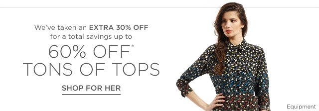 Up to 60% off Tops for Her