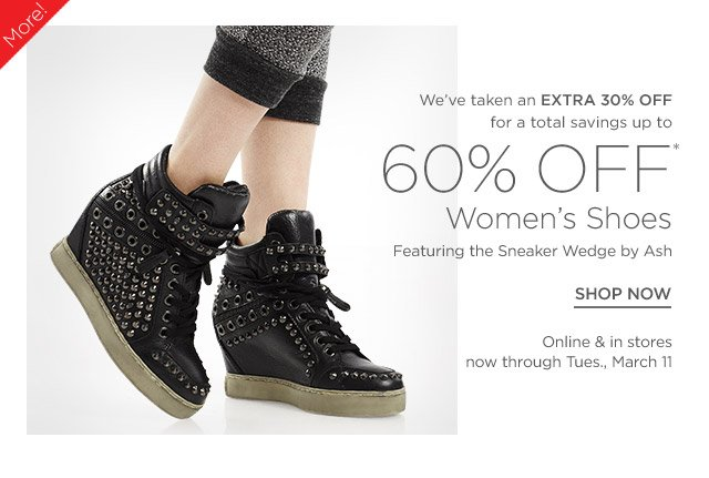 Up to 55% off Wedges & more Shoes