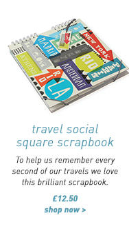 travel social square scrapbook