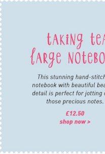taking tea stitched lrg ntbk