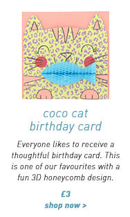 coco cat birthday card