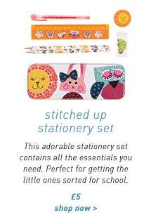 stitched up stationery set
