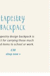 tapestry backpack