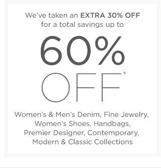 Up to 60% off Women's & Men's Denim & more