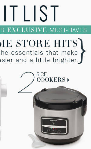 2. Rice Cookers