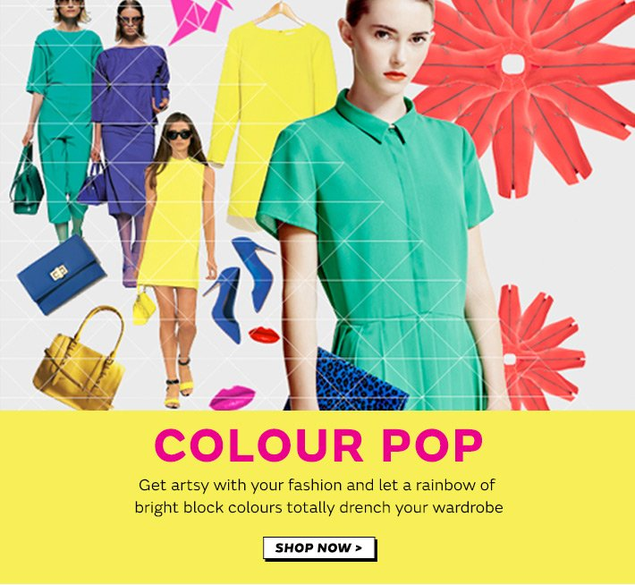Get artsy with your fashion with our paintbox trend