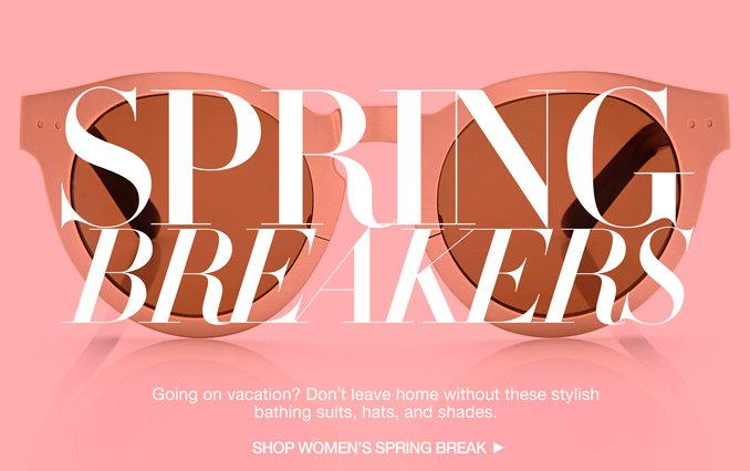 Shop Spring Break