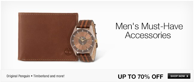 Mens Must-Have Accessories