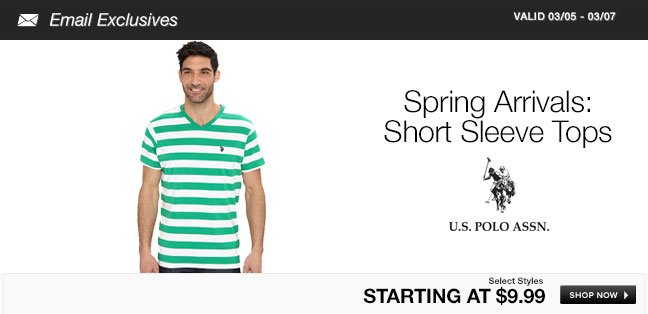 Spring Arrivals: Short Sleeve Tops