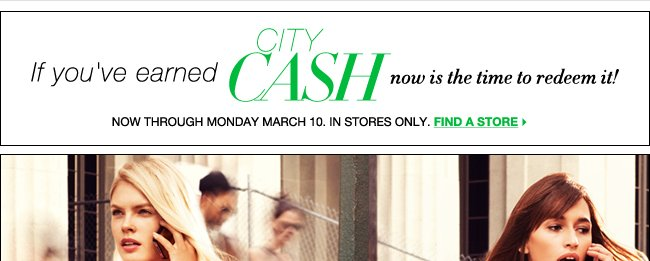 Redeem Your City Cash Now!