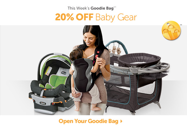 This Week's Goodie Bag - 20% OFF Baby Gear - Open Your Goodie Bag
