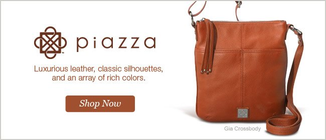 Luxurious leather, classic silhouettes, and an array of rich colors. Shop Piazza Now.