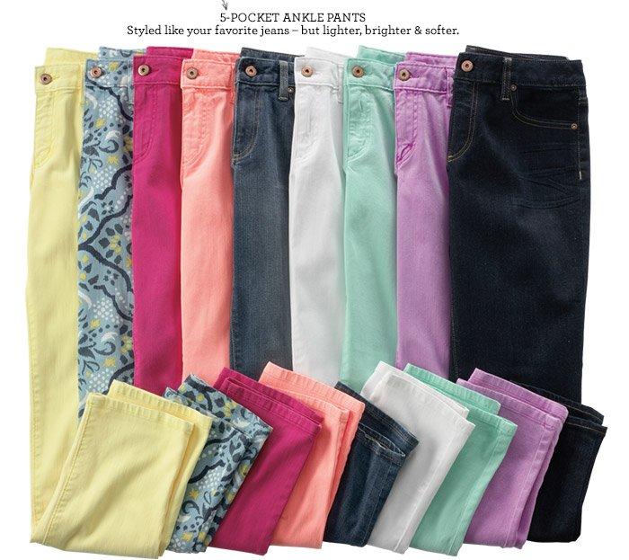 5-Pocket Ankle Pants