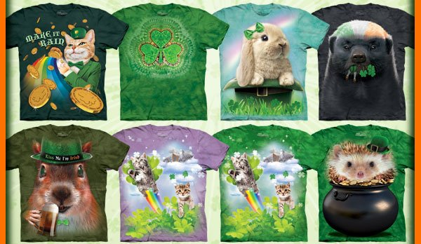 The Mountain St. Patrick's Day T-Shirt Collection.