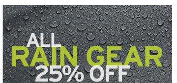 All Rain Gear 25% Off