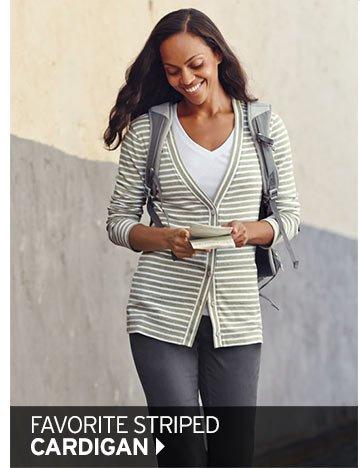 Shop Women's Favorite Striped Cardigan >