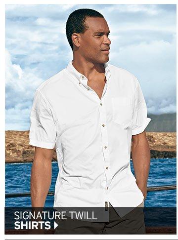 Shop Men's Signature Twill Shirt >