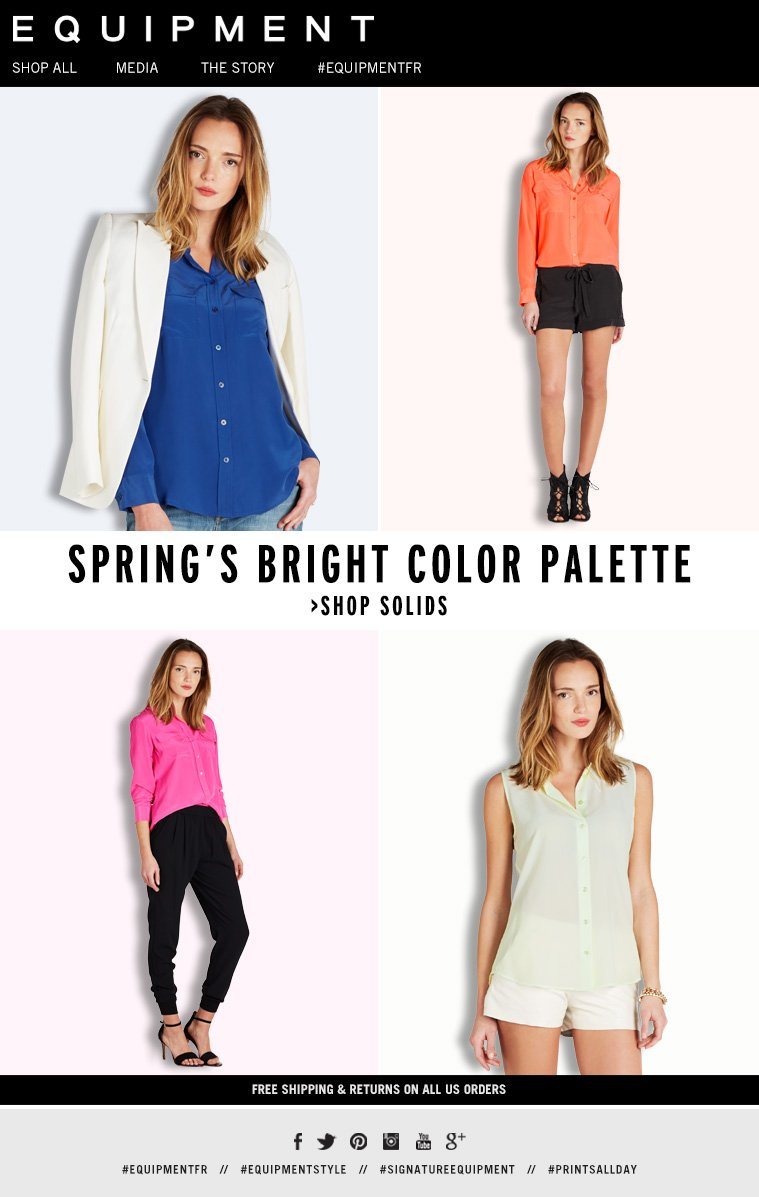 SPRING'S BRIGHT COLOR PALETTE >SHOP SOLIDS