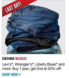 last day - Denim BOGO - shop now