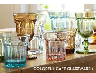 COLORFUL CAFE GLASSWARE