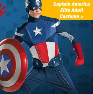Shop KCaptain America Elite Adult Costume