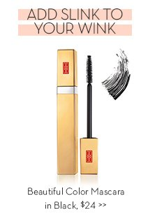 ADD SLINK TO YOUR WINK. Beautiful Color Mascara in Black, $24.