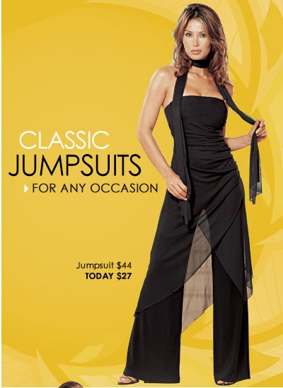 Classic Jumpsuits for any occasion. SHOP Jumpsuits and Rompers
