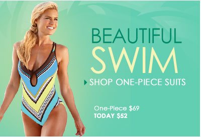 Beautiful Swim. SHOP One-Piece Swimsuits