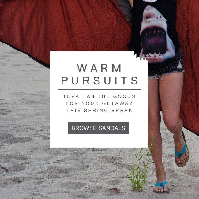 WARM PURSUITS - SHOP SANDALS