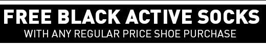 Free Black Active socks