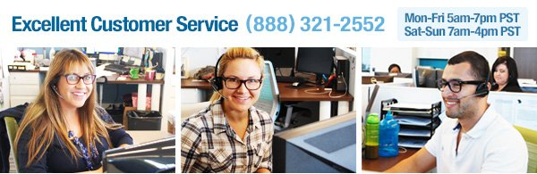 Excellent Customer Service (888) 321-2552