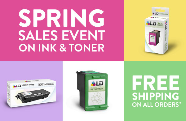 Spring Sales Event on Ink & Toner. Free Shipping on all orders.