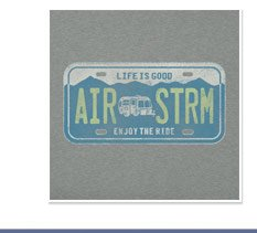 Men's License Plate Airstream Tee