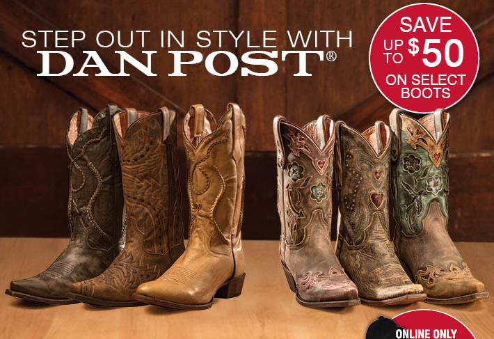 Step Out In Style With Dan Post - Save Up To $50 On Select Boots