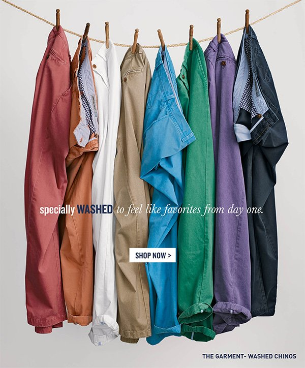 Garment Washed Chinos