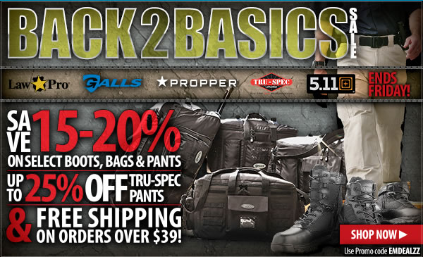 Save 15 - 25 percent on select boots, bags and pants!