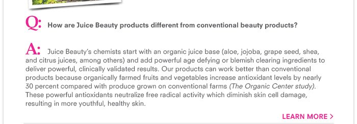 How are Juice Beauty products different from conventional beauty products?-organic_12