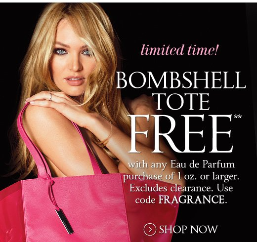 Bombshell Tote Free with Eau de Parfum Purchase of 1 Oz or Larger