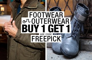 Pick & Choose: Footwear or Outerwear