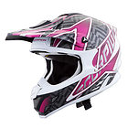 Scorpion VX-34 'Sprint' Pink Motocross Helmet