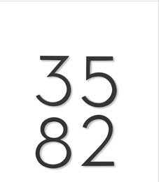 NEUTRA HOUSE NUMBERS DWR EXCLUSIVE