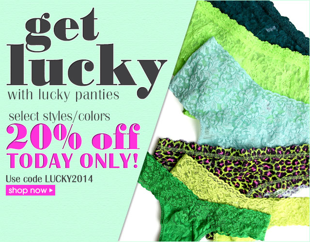 Get Lucky with 20% off Green Panties!